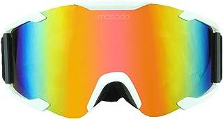 ライディングメガネ アウトドアクロスカントリーバイクゴーグルサイクリングゴーグル登山ミラーゴーグルの眩しいカラーピース ライディングゴーグルメガネ (色 : 白)