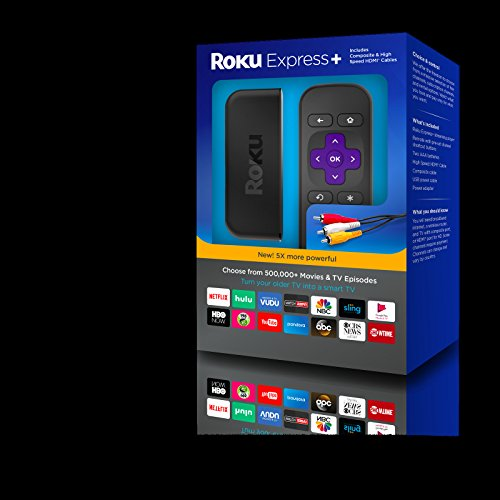 Roku Express+ HD 1080p Ditital Streaming Media Player, 3910RW