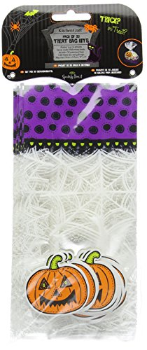 Kitchen Craft Spookily Does It Halloween Treat Bags Kits, Pack of 30