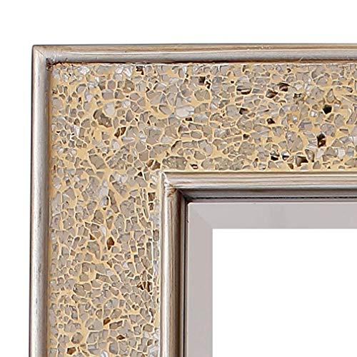 Glamour di Casa Chic - Specchio da Parete Grande Effetto Mosaico - 90 × 60 cm - Oro Lucido