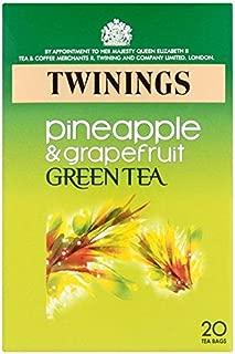 Twinings Pineapple & Grapefruit Green Tea 20 per pack - Pack of 2