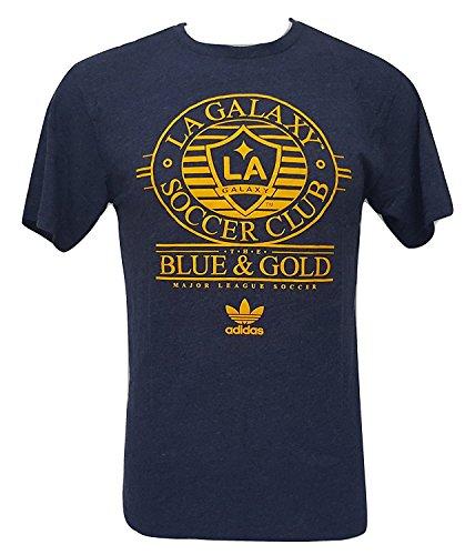 adidas MLS Los Angeles Galaxy Men's T-Shirt Blue & Gold (Small)