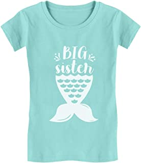 Big Sister Mermaid Shirt Girls Sibling Gift Toddler Kids Girls' Fitted T-Shirt