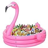 Ginkago Aufblasbarer Flamingo Pool Riesiger Babypool Kinder Planschbecken Outdoor Schwimmen Pool Baby Schwimmbecken Schwimmbad für Garten und Terasse Pink, 150*140*105cm (Flamingo)