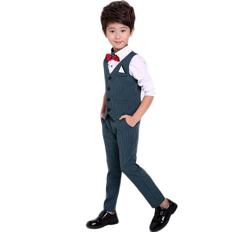 topmodelss 子供スーツ フォーマル スーツ 男の子 ベスト ズボン シャツ3セット ボーイズ 紳士服 子供服 卒業式 七五三 誕生日 入園式