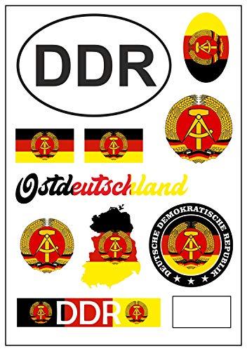 aprom Pegatina de bandera de Alemania de la RDA para coche