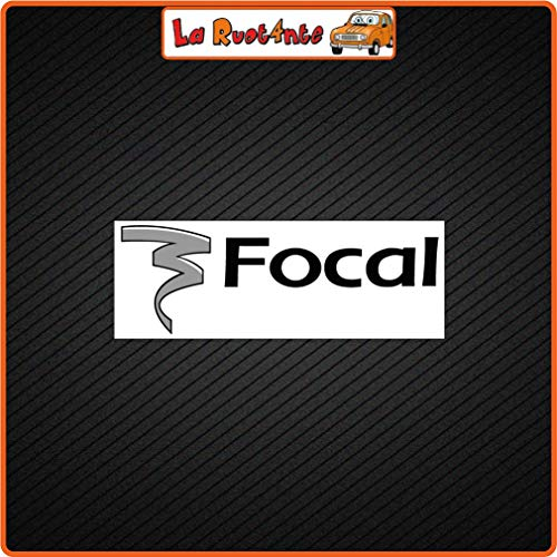 La Ruotante 2 Sticker Focal (Vinile) Auto Motorfiets Vespa Fietshelm 32x11,5 Cm