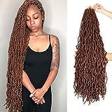 Leeven 36 Inch New Faux Locs Crochet Hair 5 Packs Long Goddess Locs Pre-looped...