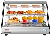 KoolMore 34' Stainless Steel Commercial Countertop Food Warmer Display Case with LED Lighting - 5.6. cu ft, Silver