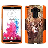 For LG G Stylo LS770 / LG Stylus H631 / ITUFFY 3items: Screen Protector Film+Stylus Pen+Dual Layer Impact Resistance Plastic Cover Soft Rubber Silicone KickStand Hybrid Case (Deer Camouflage Orange) -  Snaponcase