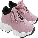 Zhongyu Nuevos Zapatos Casuales, Zapatos Deportivos para Correr para Mujeres Salvajes, Zapatos Deportivos para Mujeres, Zapatos para Correr, Zapatos Deportivos Ligeros para Gimnasia Rosa 37EU