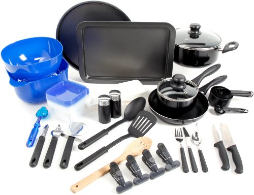 Gibson Home Total Kitchen 59 Piece Cookware Combo Set, Black