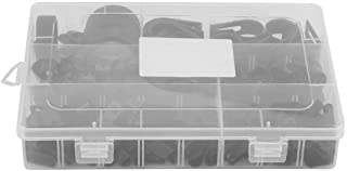 P-klem - 200 stuks nylon kunststof P bevestigingsclips klemmen gesorteerde doos voor kabel-conduit-kit (zwart, wit) zwart