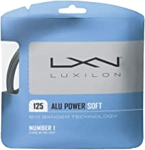 Luxilon Big Banger ALU Power Soft 16 Gauge - 125 Polyester (Poly) Tennis Racquet String Set in Multi-Packs - Best for Spin, Playability, and Durability (2-4-6-8-Packs)