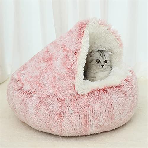 Tenda per gatti per cuccioli di cani di piccola taglia in peluche, ultra morbida tenda per gatti, casetta per gatti e gatti, comoda e antiscivolo, per scaldare la tana