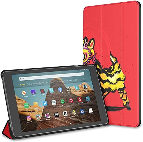 Custodia per tablet Jumping Chinese Lion Fire Hd 10 (9a settima generazione, versione 2019 2017) KindleFireHd10Custodieecover CustodieperKindleFireHd10 Riattivazione disattivazione automat