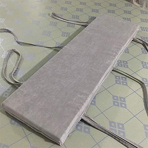 DIVAND Cojines de banco antideslizantes lavables, rectangulares universales para sofá, cojines largos para silla, grueso al aire libre, almohadilla acolchada para 2 – 3 plazas, M, 150 x 30 cm