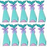 Scatole Regalo Sirena, 20 Pezzi Scatole Festa Sirena, Scatole Regalo Sirena, Sacchetti Regalo Sirena Carta Caramelle, per Festa Sirene, Forniture per la Doccia per Bambini, Forniture per Matrimoni