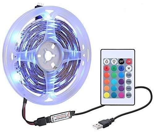 Lixada Striscia LED con Telecomando USB Dimmerabile IP65 Resistenza all Acqua per TV,Camera da Letto, Decorazioni per Feste e per la casa
