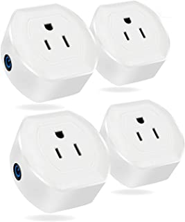 MartinJerry Mini Wifi Smart Plugs that Work with Alexa, Google Home, Smart Home Devices to control your appliance from anywhere, no Hub Required, Wifi Smart Socket (V04) (4 Pack)
