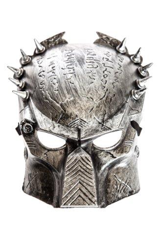 The Rubber Plantation TM 620912646655 Alien Vs Predator Warrior Movie Kostüm Maske Zubehör Unisex Erwachsene, Silber, One Size