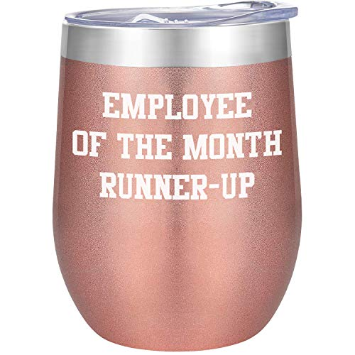 (70% OFF Coupon) Employee of the Month Runner Up – Funny 12oz Stainless Coffee Mug $6.00