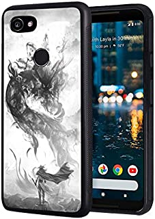 Google Pixel 3A Case, Slim Anti-Scratch TPU Rubber Protective Case Cover for Google Pixel 3A (2019) - Chinese Style Ink Painting Dragon