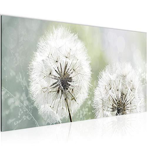 Decoración de la mesa pared de la flor diente de león - 100 x 40 cm Vista de impresión en lienzo Salón Apartamento - listo para colgar - 207112th