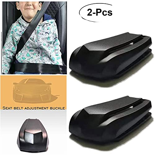 Seatbelt Car Seat Belt Adjuster Seatbelt Clips - Smart Adjust Seat Belt Clamp to Relax & Provide Shoulder & Neck Comfort While Driving - Set of 2 By ATFOAP