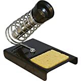 Buyyart Hand Soldering Iron Stand4 New Large 4Inch Magnifying Glass Soldering Iron Stand Helping Hand Vise Clamp Tool