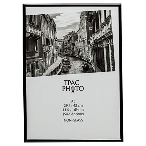 Marco para fotos, certificados o póster, color negro, apertura posterior, sin cristal, A3 (30 x 42 cm), de Hampton Frames, MARA3BLK