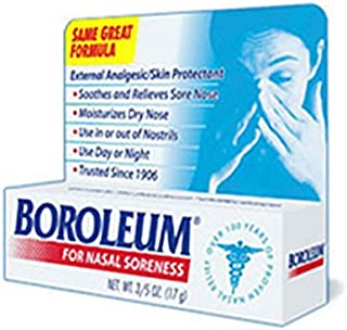 Boroleum for Nasal Soreness Tube, 17 Grams (Pack of 2)
