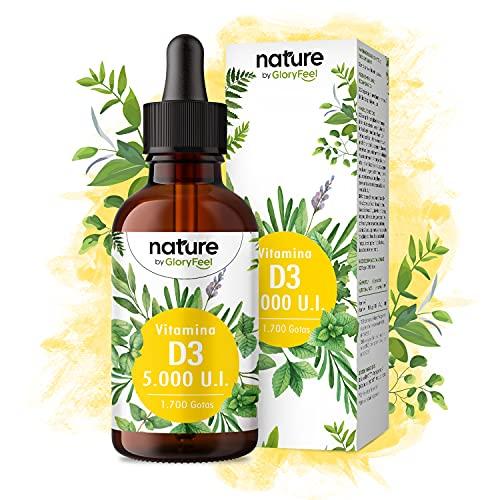 Vitamina D3 5000 líquida (50ml) - Probada en laboratorio 5000 U.I por gota - Lanolina de primera calidad en aceite MCT de coco - Fabricada en Alemania sin aditivos y altamente dosificada