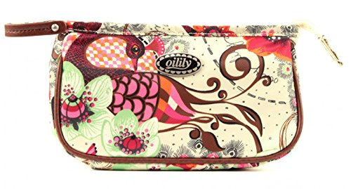 Oilily Tropical Birds S Cosmetic Bag Off White18x6.5x10.5