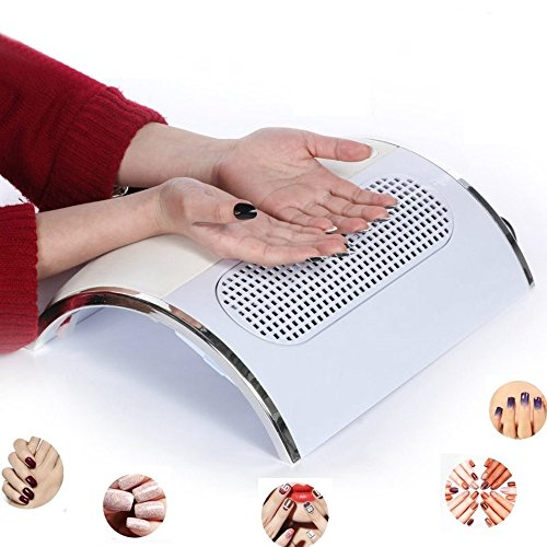 HailiCare Nail Dust Collector Suction Fan with 2 Dust Collecting Bags, Powerful Nail Vacuum Cleaner Machine Manicure Tools, Practical Nail Art Salon Cleaning Equipment