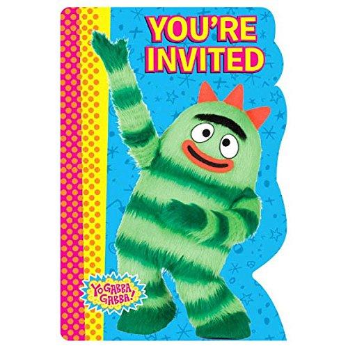 amscan Invitations | Yo Gabba Gabba Collection | Party Accessory