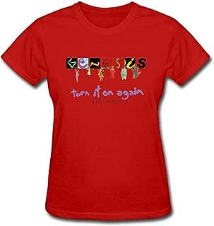 Genesis Turn It On Again Women's Cotton Short Sleeve T-Shirt
