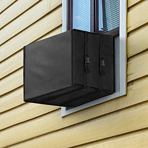Window Air Conditioner Cover Outdoor, Outside Window AC Units Cover AC Unit Covers with Free Drawstring, 21W x 16D x 15H inches