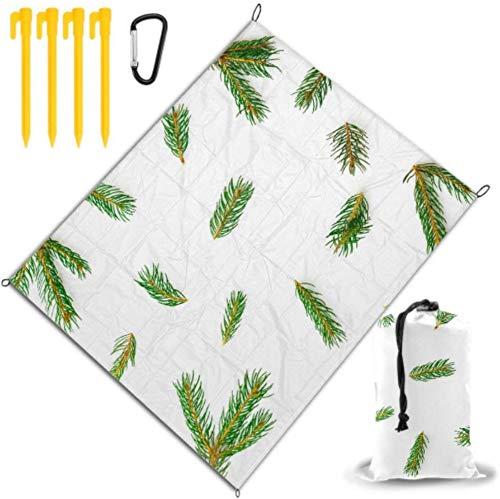 BONRI Manta de Playa Vintage Alfombra de Vida Verde con Rama de árbol Diferente para Picnic Impermeable y de Secado rápido para Viajes, campamentos, Caminatas, Festivales de música