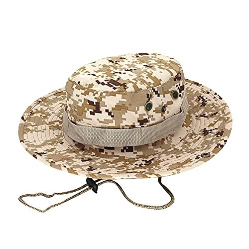 BIBOKAOKE Sombrero unisex para el sol, para mujer, hombre, para exterior, protección UV, con cordón de barbilla Khaki2 Talla única