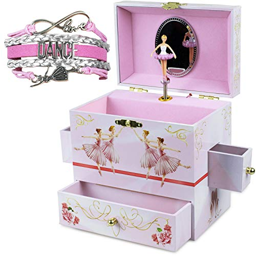 Whimsical Music Jewelry Box and Bracelet