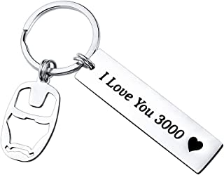 SUNSH I Love You 3000 Keychain Avengers Keychain Avenger Fan Iron Man Inspire Gift for Men Boys Teen Girls