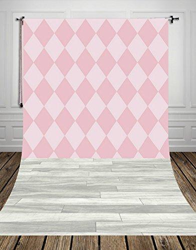 Coloc fotografie, 150 x 220 cm, ruiten roze en lichtgrijs, houten vloeren, fotostudio, achtergrond van stof, kunst, voor fotografie, D-9695