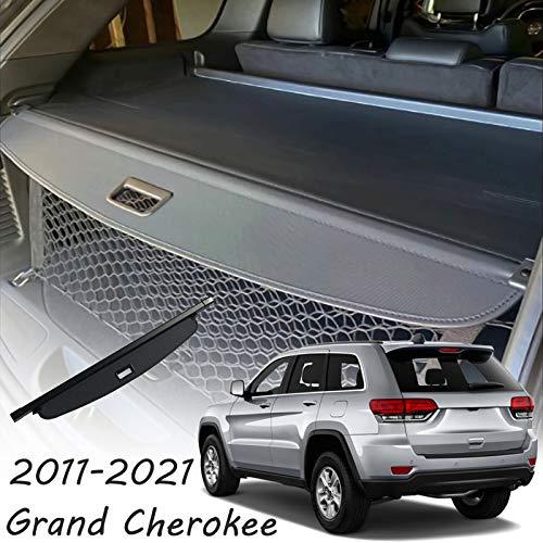 CARORMOKE Retractable Cargo Cover Privacy Shade Trunk Cover Black Compatible with 2011-2021 Jeep Grand Cherokee