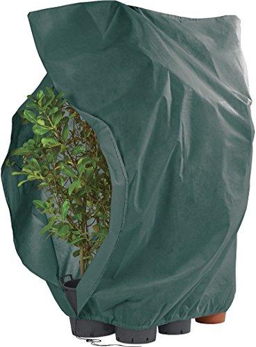 FLORABEST ® XXL Pflanzen-Frostschutzvlies mit Reißverschluss und Kordelzug, ca. 2,40 x 2,00 m (grün)