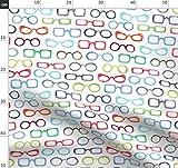 Brille, Bunt, Rot Stoffe - Individuell Bedruckt von