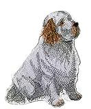 Toppa ricamata con scritta 'Clumber Spaniel', 11,4 cm x 4 cm, prodotta negli Stati Uniti.