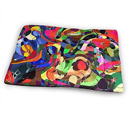 YAGEAD Pet Dog Mat Mat 3D Color Mosaic Sleeping Kennel Materasso in Cassa Morbida Antiscivolo Lavabile in Lavatrice per Cani Jumbo Cats Bed, 31 'x21' -TN