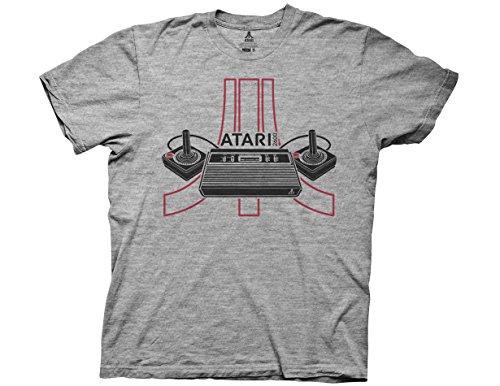 Atari 2600 Console Logo Camiseta Gris Para Hombre | 2XL
