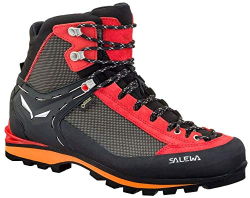 Salewa MS Crow Gore-TEX Zapatos de Senderismo, Negro (Black/Papavero 0935), 40.5 EU